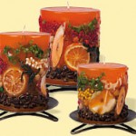 Kerzen Orange