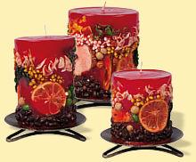 Kerzen Kirschen